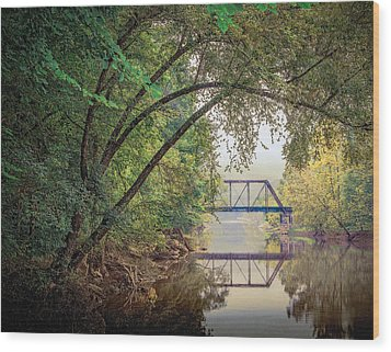 Country Bridge Wood Print by William Schmid
