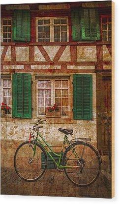 Country Charm Wood Print by Debra and Dave Vanderlaan