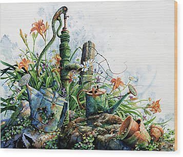 Country Charm Wood Print by Hanne Lore Koehler
