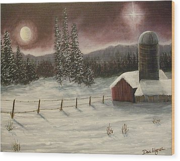 Country Christmas Wood Print by Dan Wagner