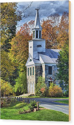 Wood Print featuring the photograph Country Church by Barbara Manis