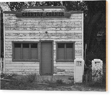Country Corner Wood Print by David Lee Thompson