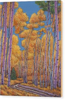 Country Corner Wood Print by Johnathan Harris