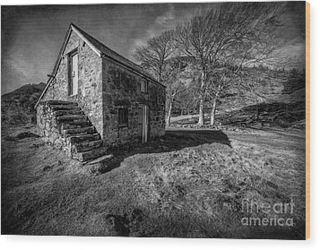 Country Cottage V2 Wood Print by Adrian Evans