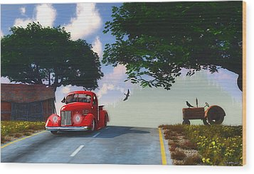 Country Cruise Wood Print