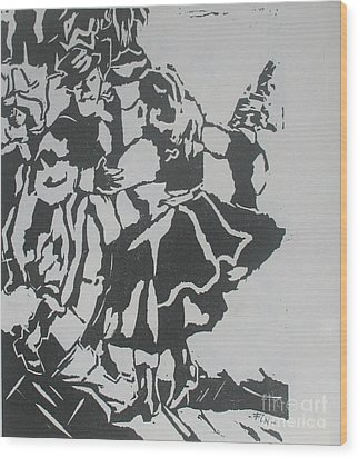 Country Dance Wood Print by PainterArtist FIN