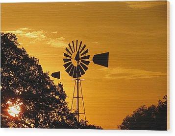 Country Ending Wood Print