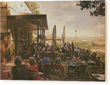 Wood Print featuring the painting Country Estate Slavante By Briex by Nop Briex