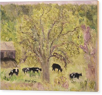 Country Farm Wood Print