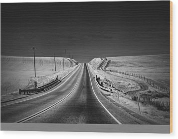 Country Farm Road Wood Print by Anthony Citro