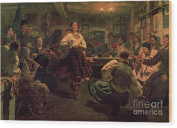 Country Festival Wood Print by Ilya Efimovich Repin