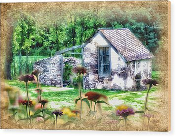 Country Garden Wood Print by Bill Cannon