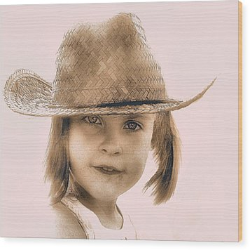 Country Girl Wood Print