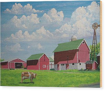 Country Home Wood Print by Norm Starks