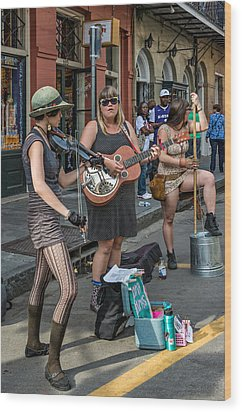 Country In The French Quarter Wood Print by Steve Harrington