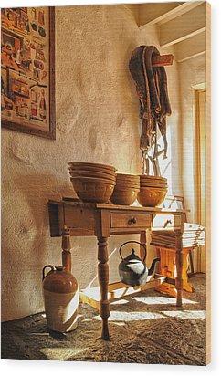 Irish Country Kitchen Wood Print by Barbara Budzinski