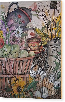 Country Kitchen Wood Print by Laneea Tolley