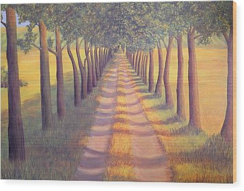 Wood Print featuring the painting Country Lane by Sophia Schmierer