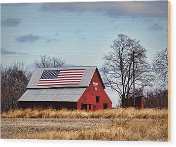 Country Pride Wood Print by Cricket Hackmann
