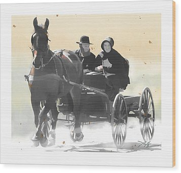 Wood Print featuring the painting Country Ride by Bob Salo