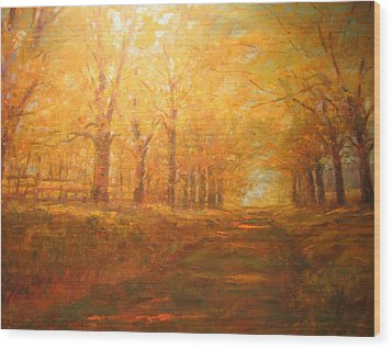 Country Road. Wood Print