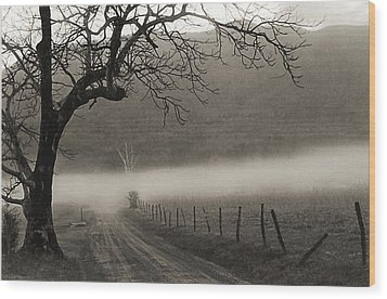 Country Road Wood Print by Elvira Butler