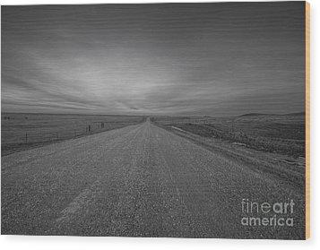 A Country Road Of South Dakota Wood Print