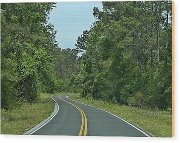 Wood Print featuring the photograph Country Road by Victor Montgomery