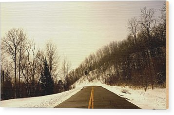 Country Roads Take Me Home Wood Print by Danielle  Broussard