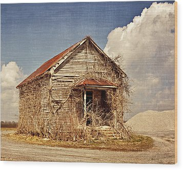 Country Schoolhouse  Wood Print by Marty Koch