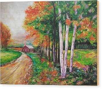 Country Side Wood Print by Emery Franklin