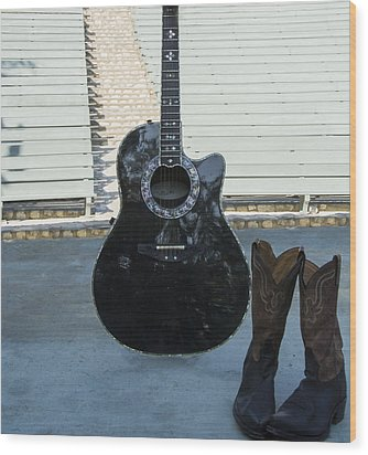 Wood Print featuring the photograph Country-rock Singer Wanted- by Renee Anderson