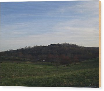 Country Skies  Wood Print by Kiara Reynolds