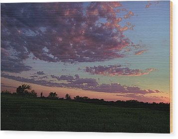 Country Sky Wood Print by Jame Hayes