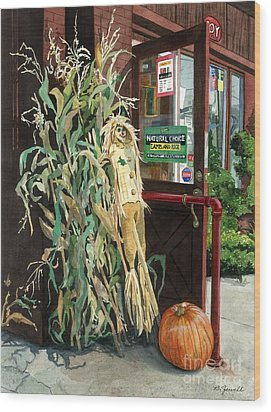 Country Store Wood Print by Barbara Jewell