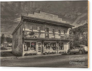 Country Store Open Wood Print by Dan Friend