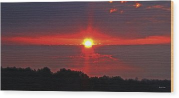 Country Sunrise 003 Wood Print by George Bostian