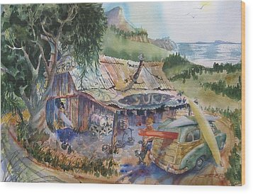 Country Surf Shop Wood Print