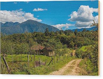 Countryside In Boyaca Colombia Wood Print by Jess Kraft