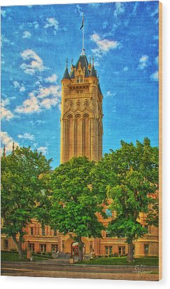 County Courthouse Wood Print by Dan Quam
