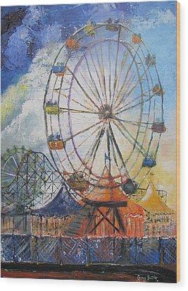 County Fair Wood Print