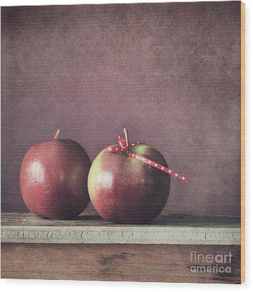 Couple Wood Print by Priska Wettstein