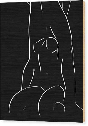 Couple Wood Print by Steve K