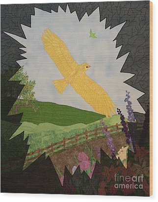 Courage Is The Bird That Soars Wood Print by Denise Hoag