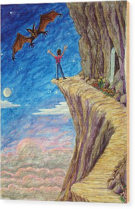 Wood Print featuring the painting Courage by Matt Konar