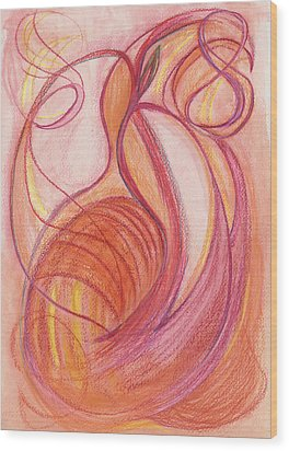 Courage's Nourishment Wood Print by Kelly K H B