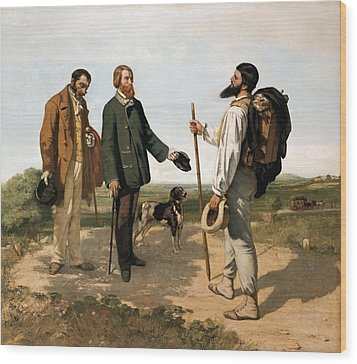 Courbetgustave 1819-1877. The Meetingor Wood Print by Everett