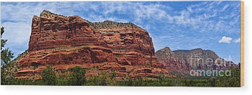 Courthouse Butte Rock Formation Sedona Arizona Wood Print by Amy Cicconi