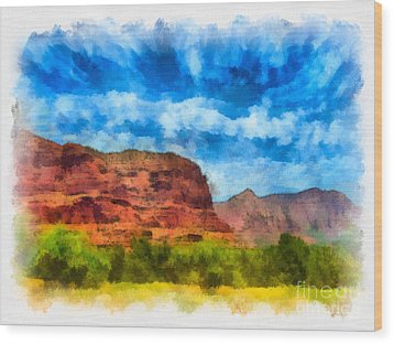 Courthouse Butte Sedona Arizona Wood Print by Amy Cicconi