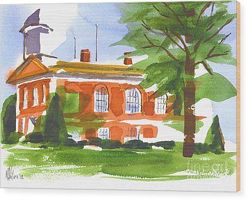 Courthouse On A Summers Evening Wood Print by Kip DeVore